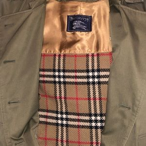 Vintage wool lined Burberry trench coat